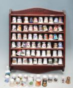 COLLECTION OF VINTAGE 20TH CENTURY CERAMIC THIMBLES - ROYAL WORCESTER - ROYAL CROWN DERBY
