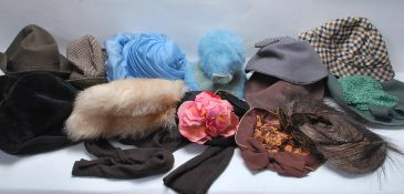 LARGE COLLECTION OF ART DECO 1930'S-1950'S LADYS AND GENTLEMEN HATS