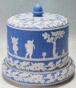 LARGE 19TH CENTURY VICTORIAN CIRCA 1880 JASPERWARE STILTON CHEESE DISH