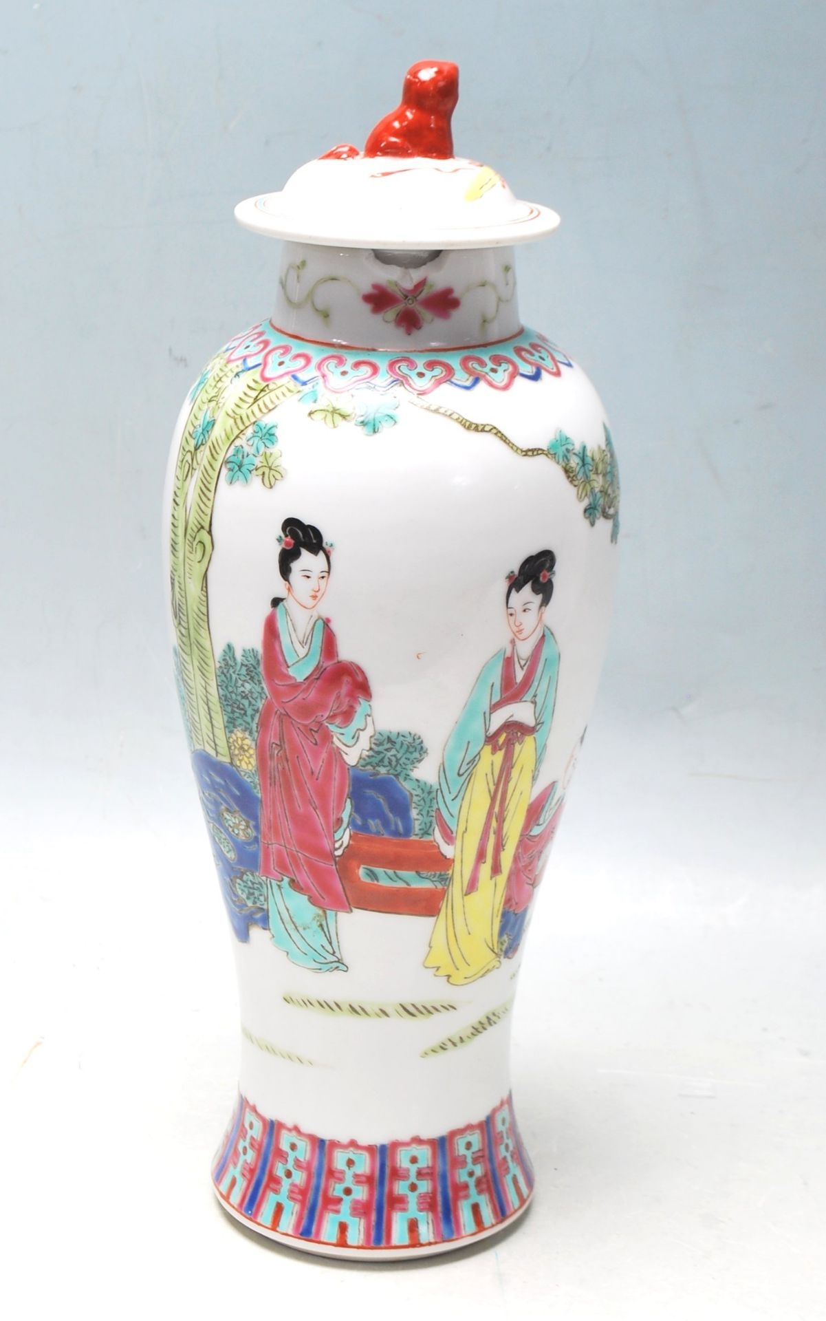 MID 20TH CENTURY FAMILLE ROSE MEIPING VASE
