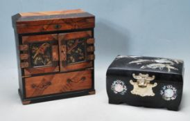 TWO VINTAGE 20TH CENTURY CHINESE ORIENTAL JEWELLERY BOXES