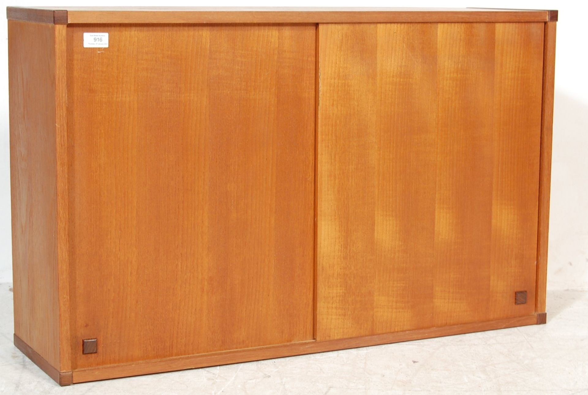 MID CENTURY WALL MOUNTED PS SYSTEM TYPE TEAK CABINET