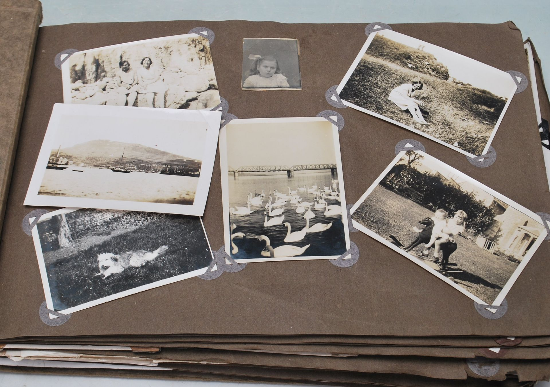 EARLY 20TH CENTURY BLACK AND WHITE PHOTO ALBUM