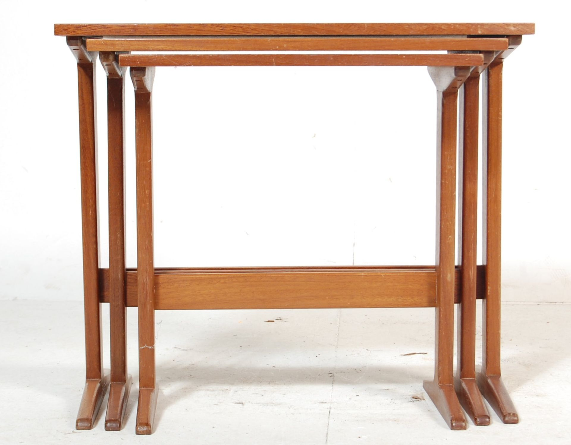 G-PLAN - RETRO 1970'S TEAK WOOD NEST OF TABLES
