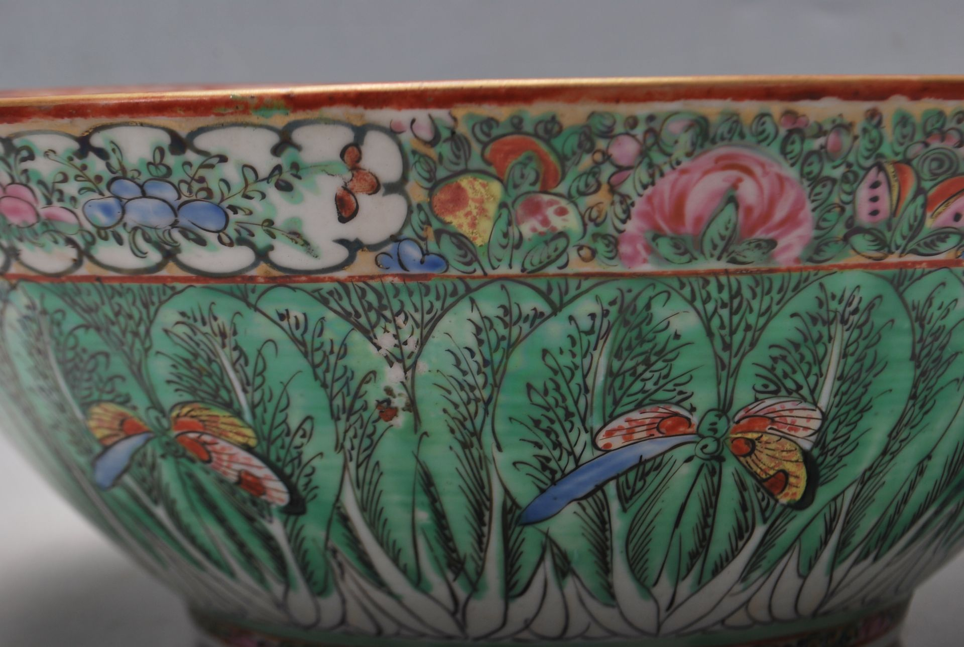 19TH CENTURY CHINESE ORIENTAL CENTRE PIECE BOWL - Image 11 of 11