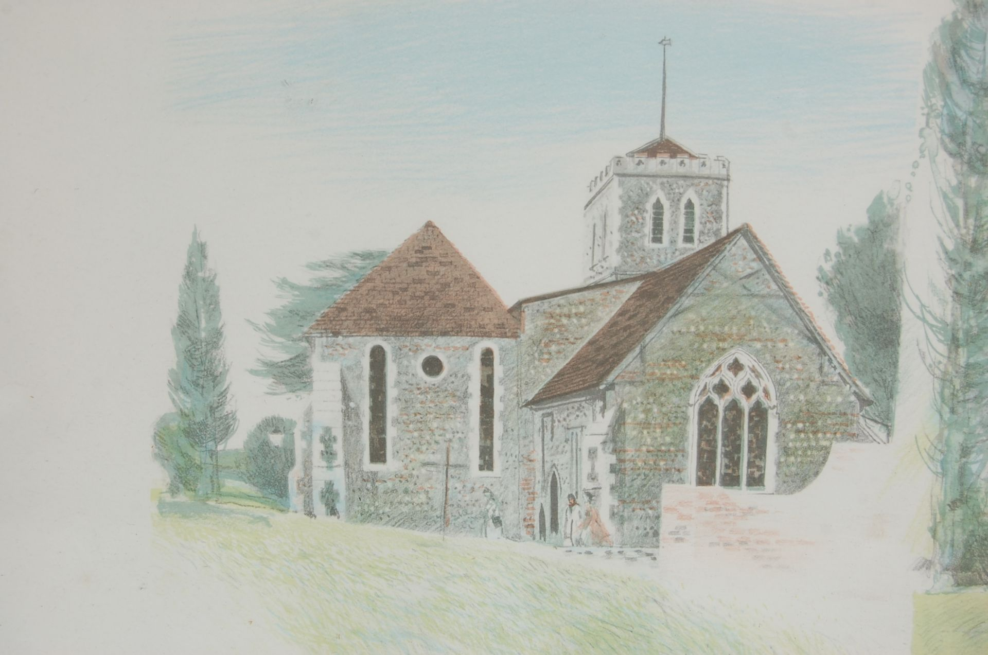 ALBANU WISEMAN LIMITED EDITION LITHOGRAPH OF THREE CHURCHES - Image 3 of 8