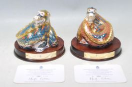 TWO ROYAL DOULTON PAPERWEIGHTS