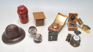 COLELCTION OF 20TH CENTURY VINTAGE INK WELLS
