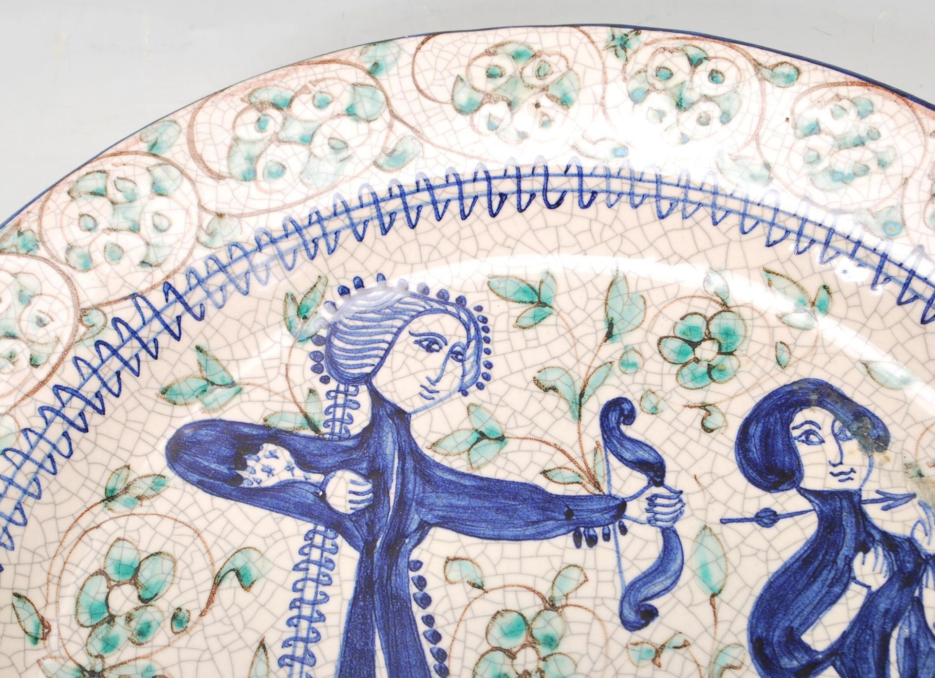 LATE 20TH CENTURY PERSIAN ISLAMIC FAIENCE CHARGER - Image 2 of 7