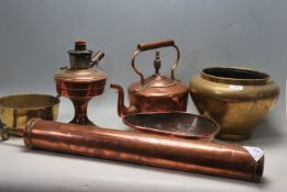 COLLECTION OF VICTORIAN AND LATER COPPER AND BRASS
