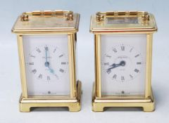 TWO VINTAGE BAYARD CARRIAGE CLOCKS