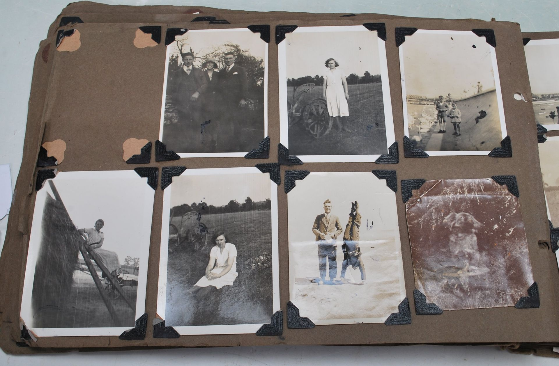 EARLY 20TH CENTURY BLACK AND WHITE PHOTO ALBUM - Image 8 of 14