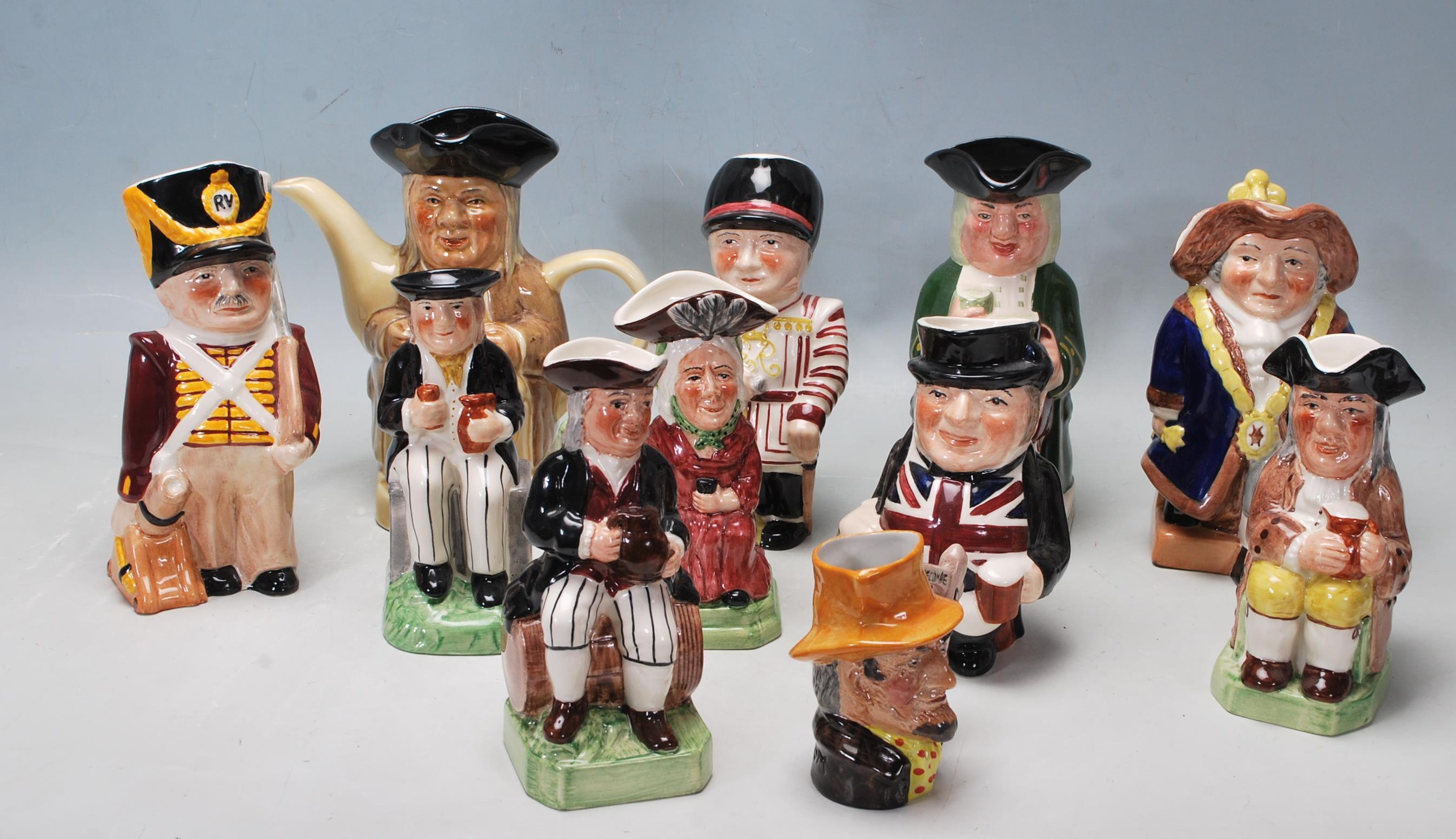 LARGE GROUP OF 20TH CENTURY CERAMIC TOBY JUGS
