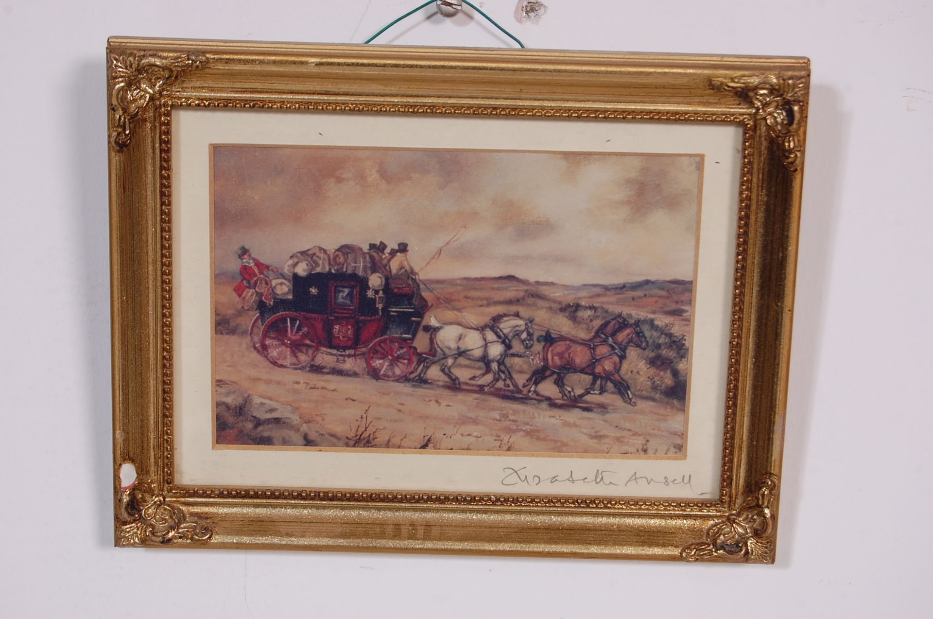 A GROUP OF SEVEN ROYAL MAIL LITHOGRAPH PRINTS DEPICTING 19TH CENTURY ROAYL MAIL COACHES - Image 4 of 13