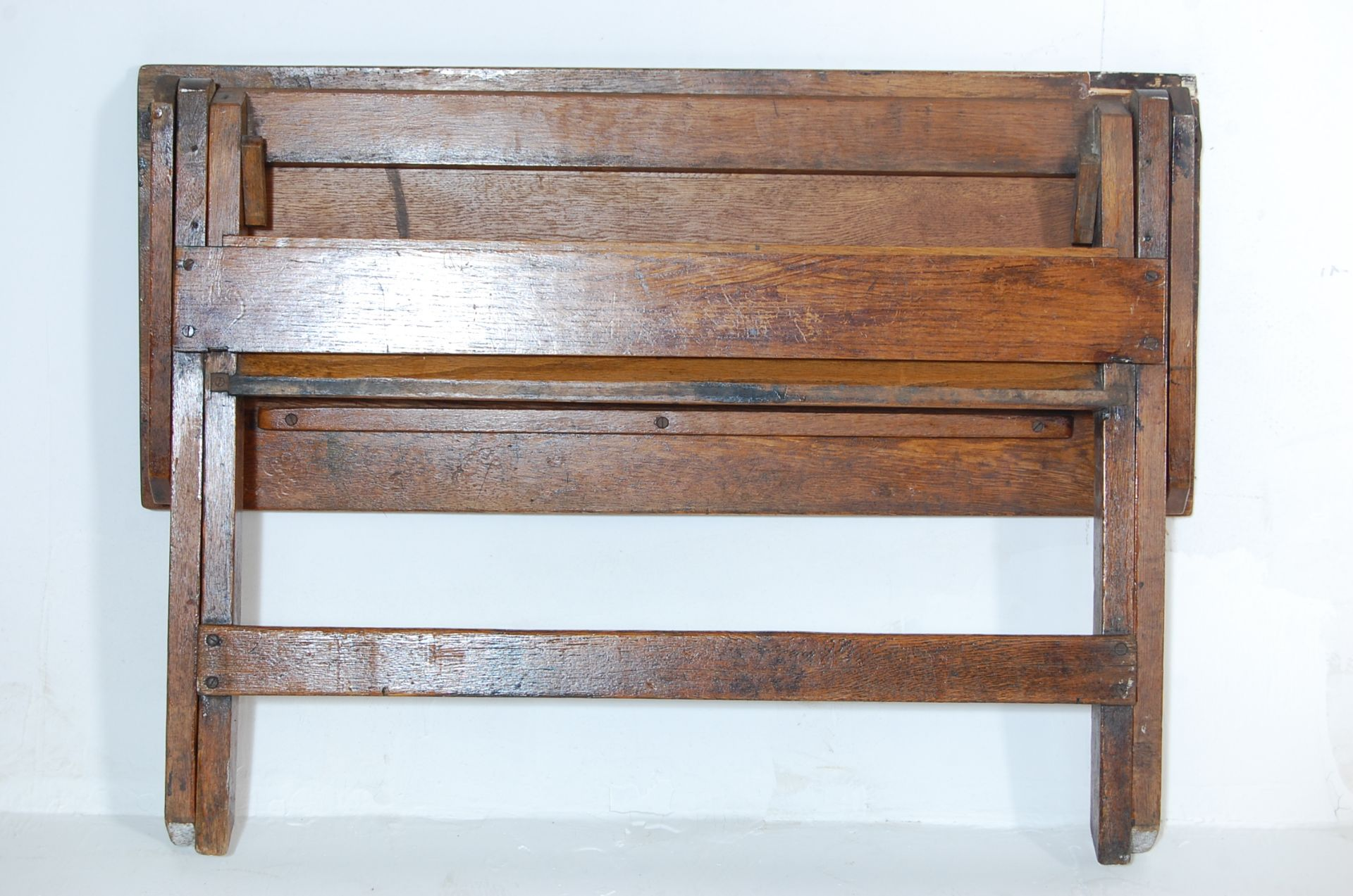 An early 20th Century vintage folding double schoo - Image 7 of 7
