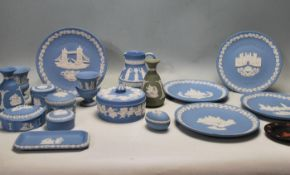 COLLECTION OF LATE 20TH WEDGWOOD JASPERWARE
