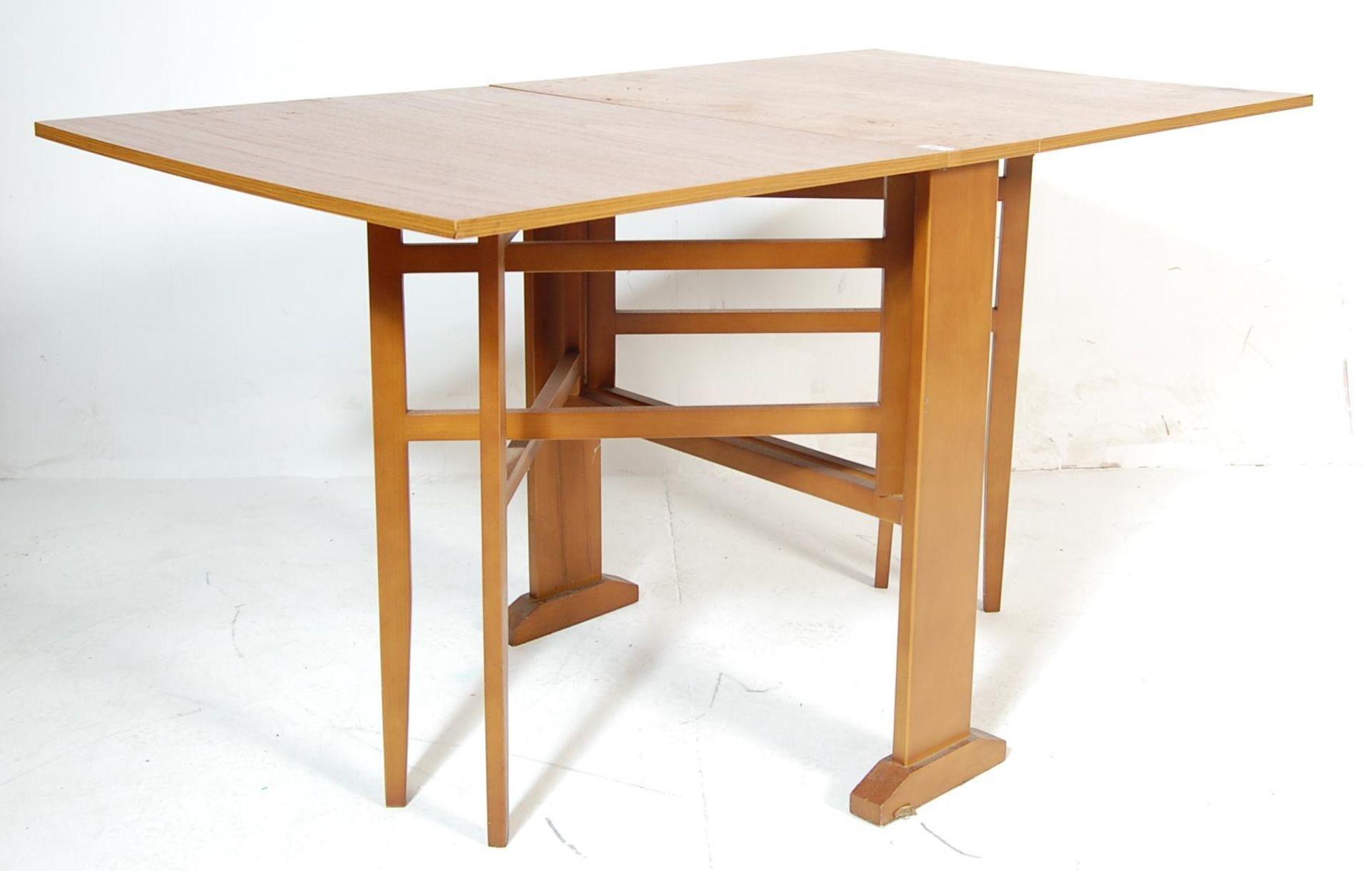 RETRO VINTAGE 1960S TEAK WOOD DINING TABLE - Image 2 of 5