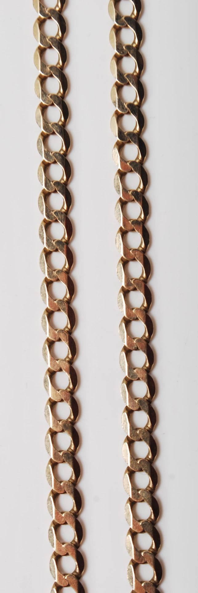 9CT GOLD FLAT LINK NECKLACE CHAIN - Image 3 of 7