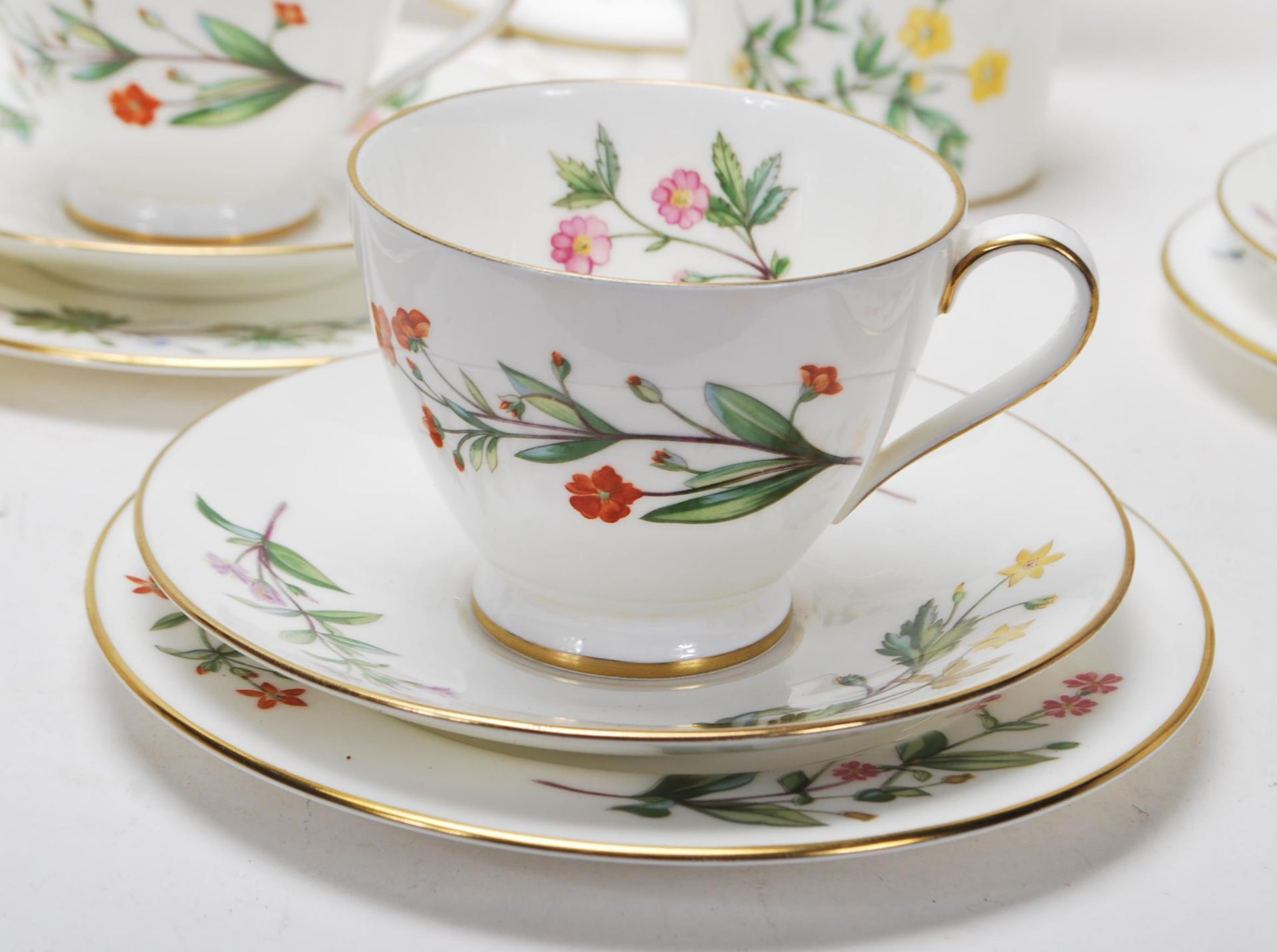 MINTON MEADOW PATTERN BONE CHINA TEA SERVICE - Image 3 of 12