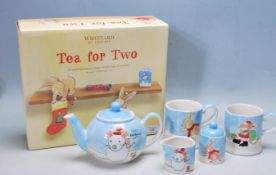 WHITTARD OF CHELSEA CHINA TEA FOR 2 SET