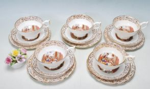 STAFFORDSHIRE VINTAGE CRIES OF LONDON TEA SERVICE