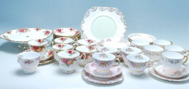 VINTAGE 20TH CENTURY ROYAL ALBERT OLD COUNTRY ROSES TEA SERVICE