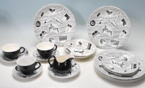 RETRO 1950S HOMEMAKER POTTERY DINNER SERVICE DESIGNED BY ENID SEENEY AND PRODUCED BY RIDGEWAY.