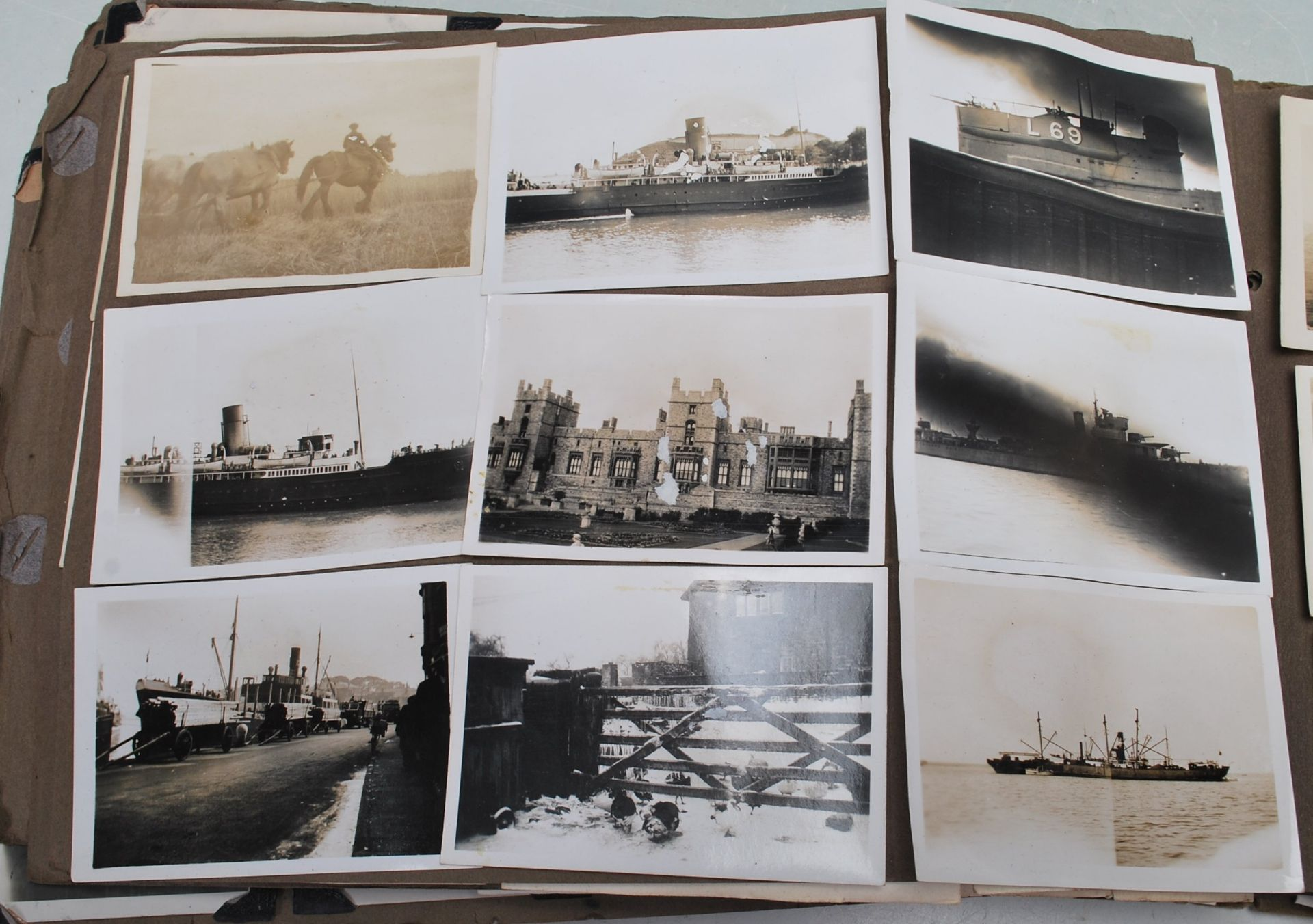 EARLY 20TH CENTURY BLACK AND WHITE PHOTO ALBUM - Image 11 of 14