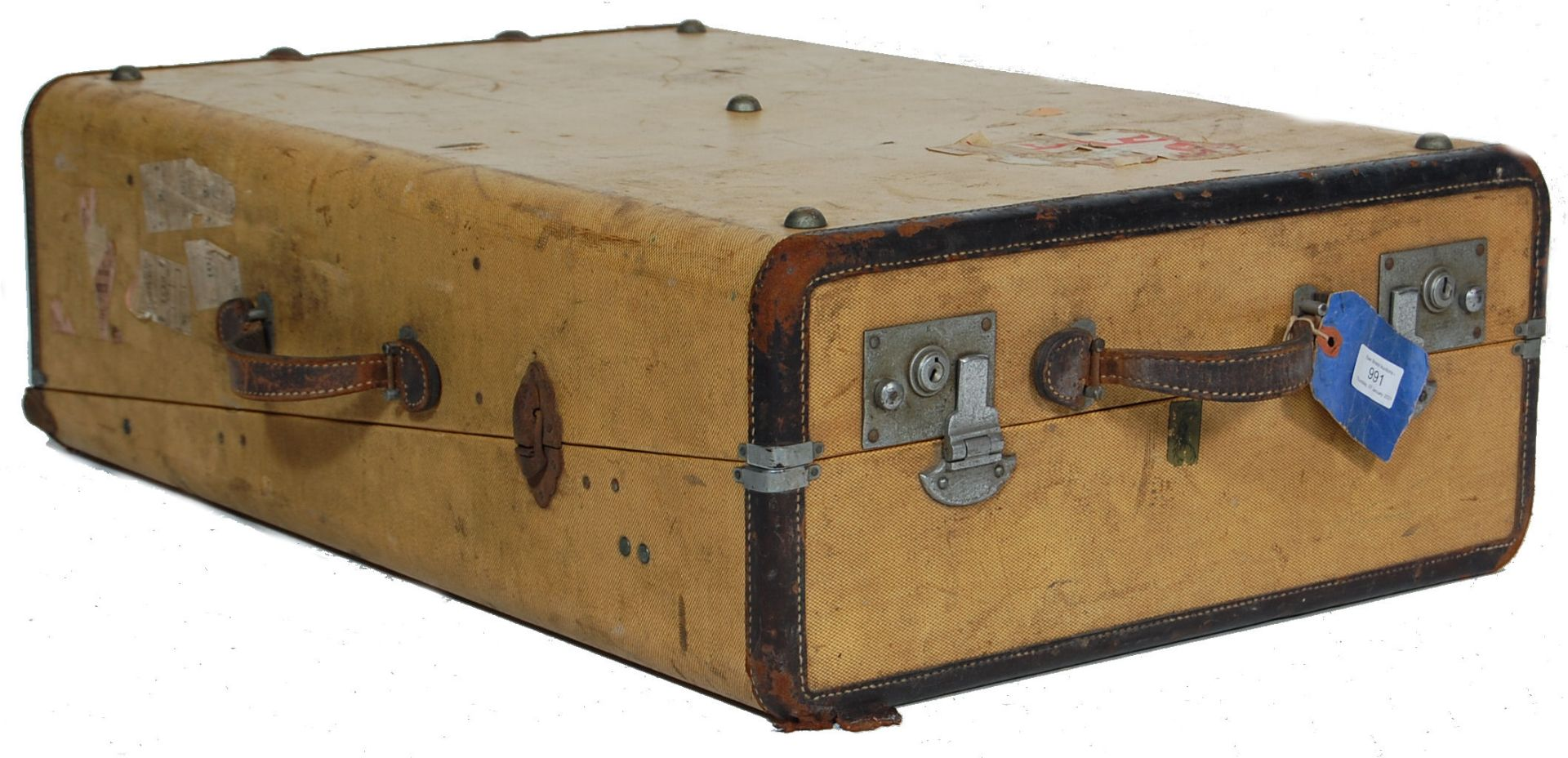 COLLECTION OF THREE EARLY 20TH CENTURY STEAMER TRUNKS - Image 2 of 12