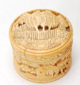 EARLY 20TH CENTURY CHINESE IVORY PILL BOX