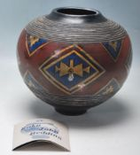 JOHN BEDDING - ST IVES POTTER - STUDIO ART POTTERY GLOBULAR VASE