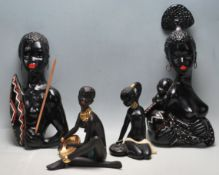 COLELCTION OF FOUR VINTAGE 1950S BLACKAMOOR DECORATIVE PLAQUES AND FIGURINES