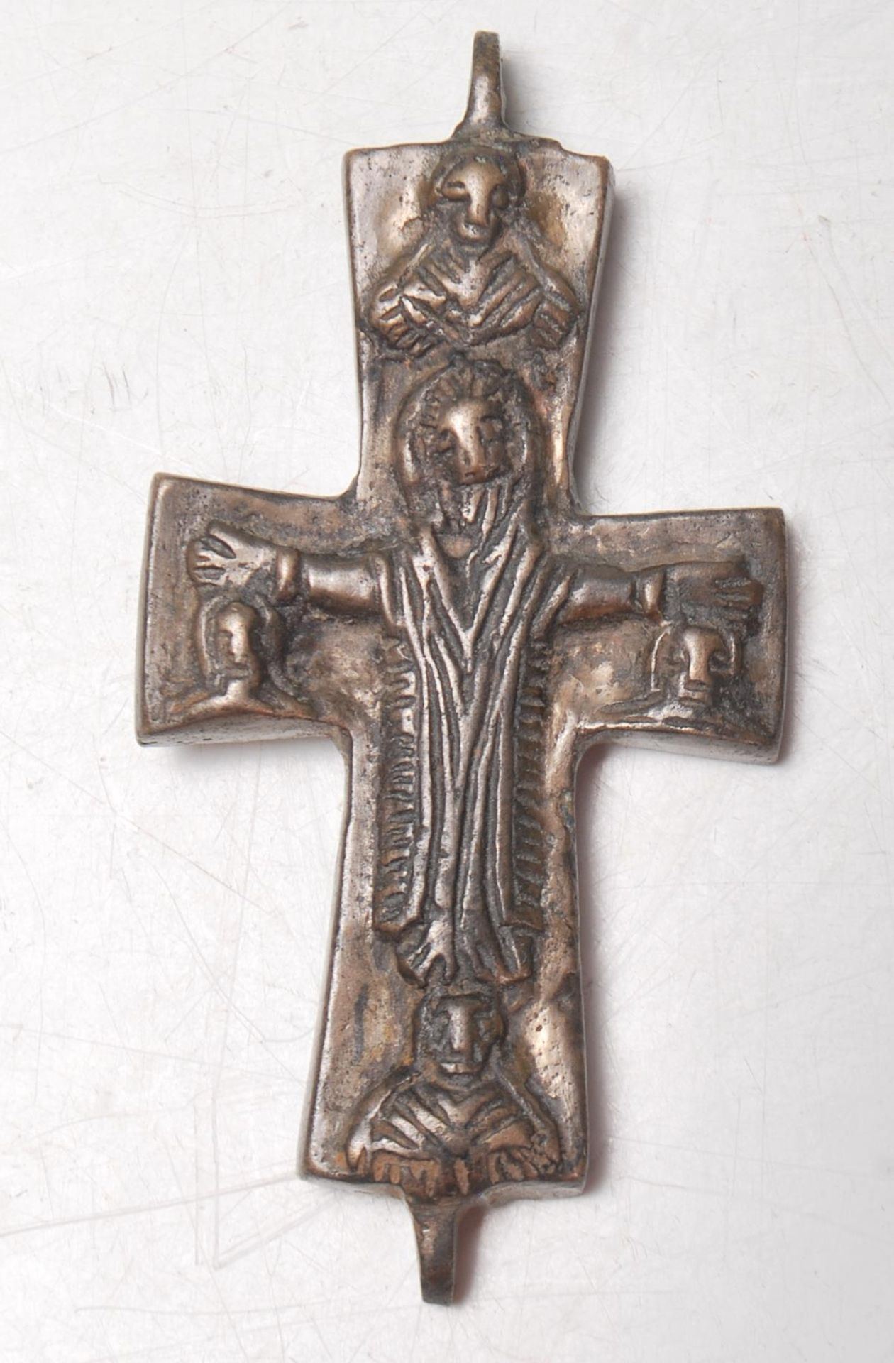 MEDIEVAL BYZANTINE RELIQUARY CROSS FRAGMENT