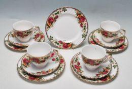 MID 20TH CENTURY ENGLISH ROSE TEA SERVICE BY WASHINGTON POTTERY