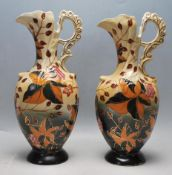 PAIR OF ANTIQUE EARLY 20TH CENTURY PORCELAIN VASES