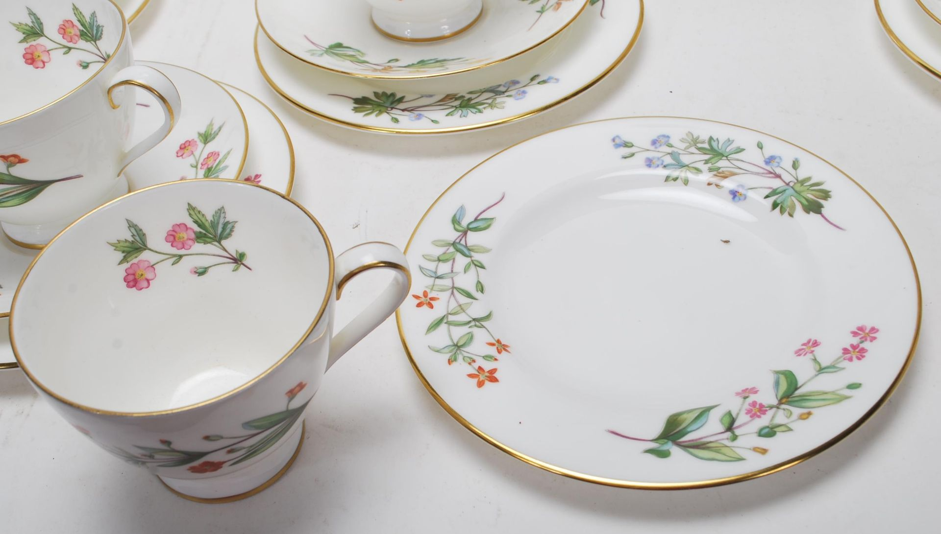 MINTON MEADOW PATTERN BONE CHINA TEA SERVICE - Image 6 of 12