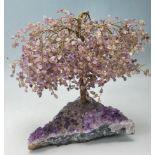 20TH CENTURY CHINESE ORIENTAL AMETHYST BONSAI TREE