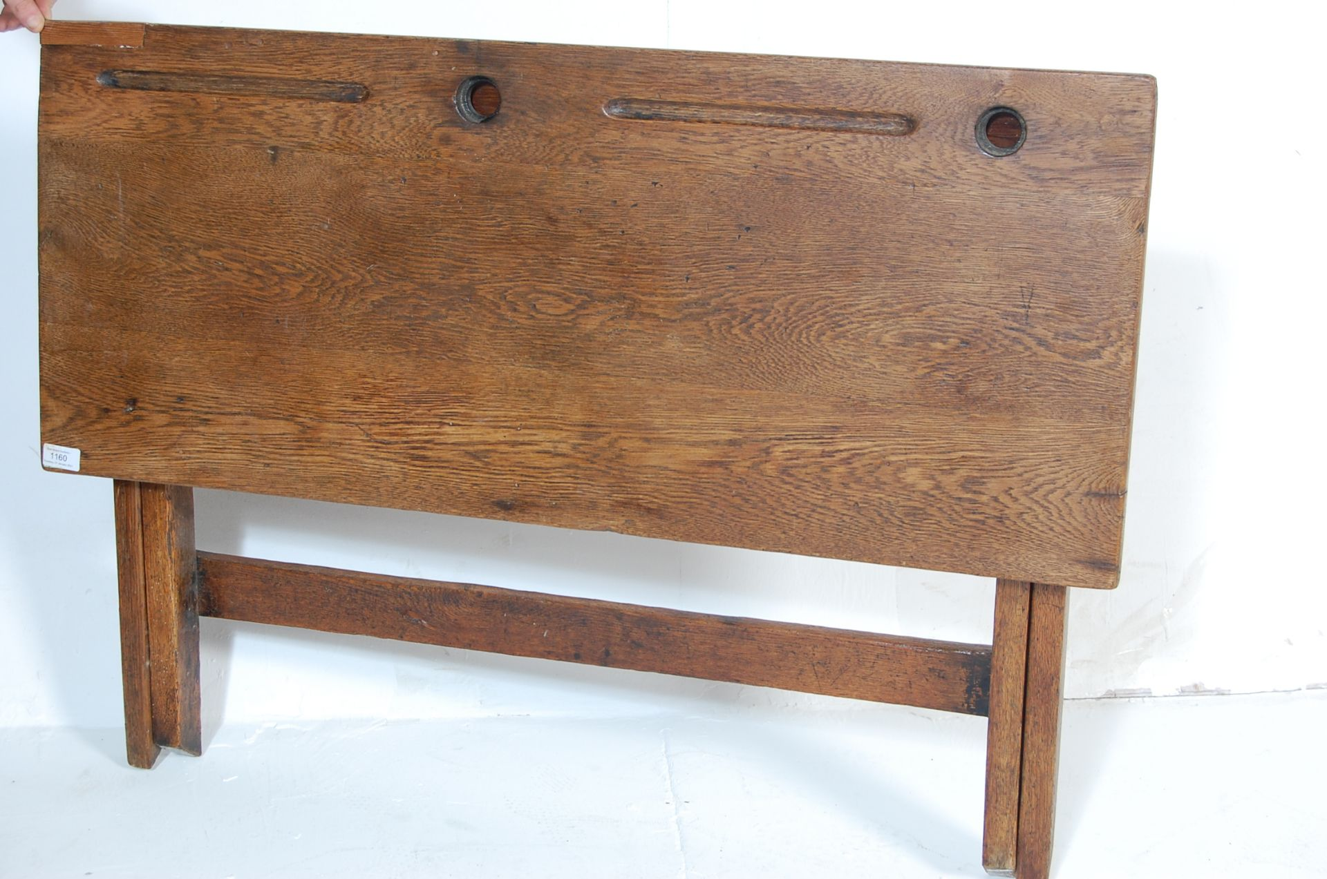 An early 20th Century vintage folding double schoo - Image 6 of 7