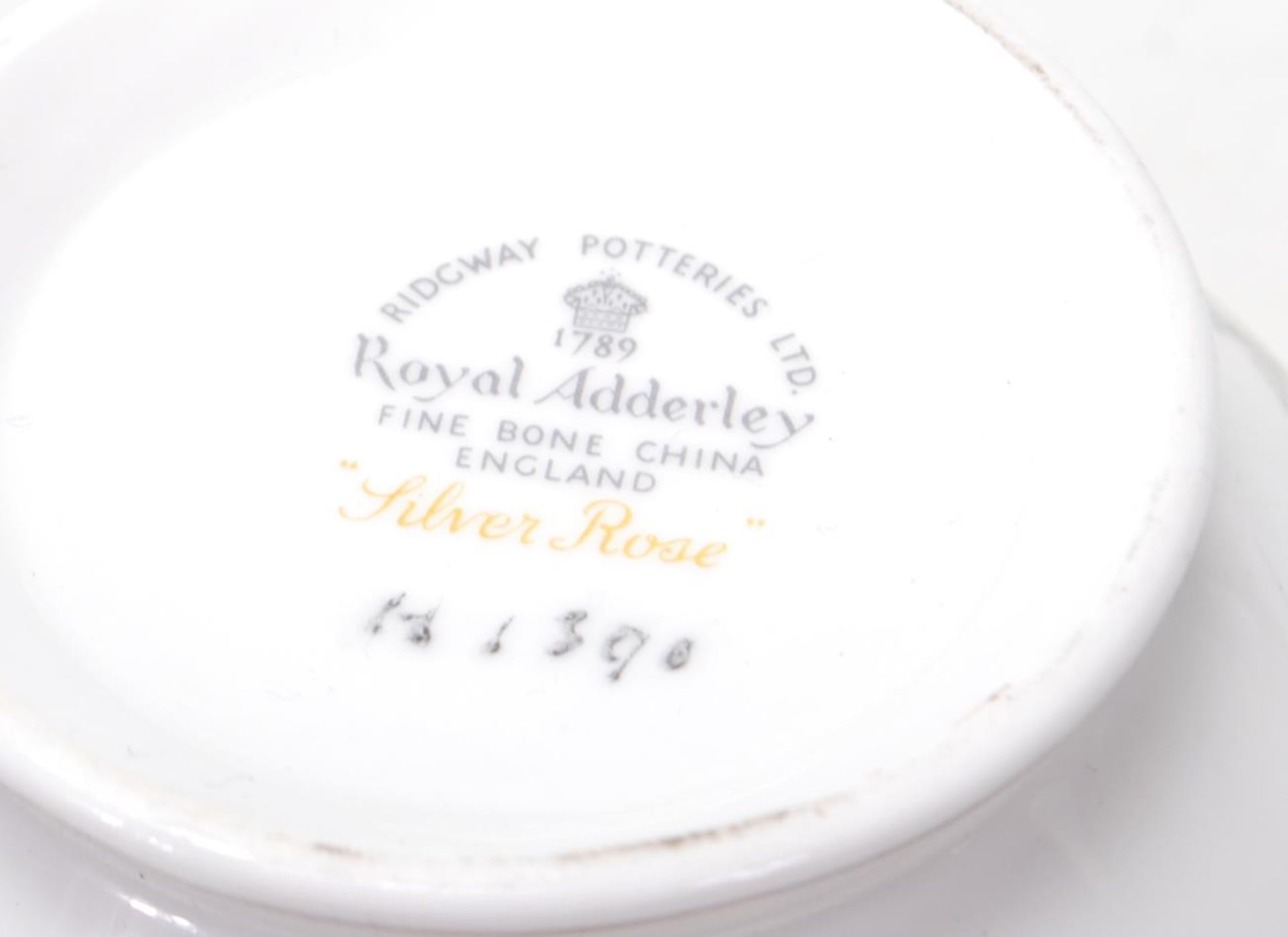 ROYAL ADDERLEY SILVER ROSE TEA SERVICE FOR SIX - Image 7 of 7