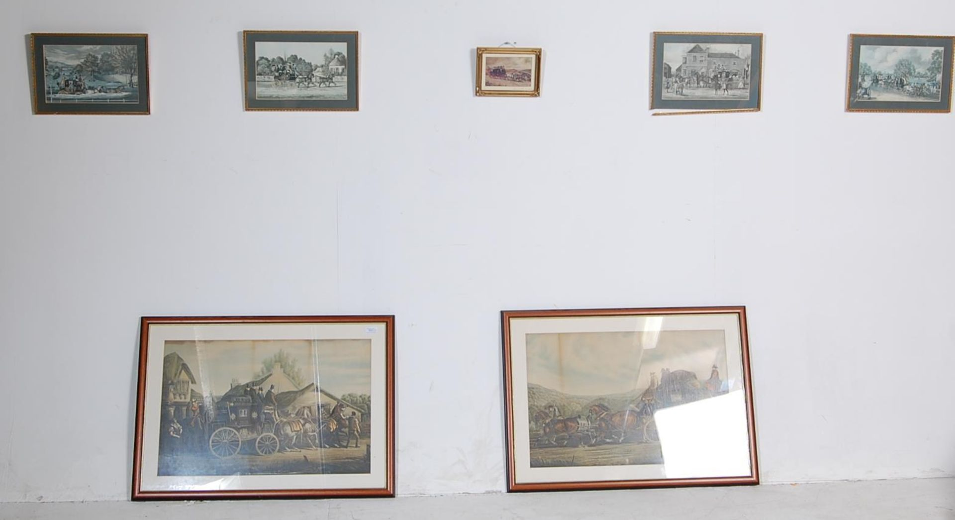 A GROUP OF SEVEN ROYAL MAIL LITHOGRAPH PRINTS DEPICTING 19TH CENTURY ROAYL MAIL COACHES