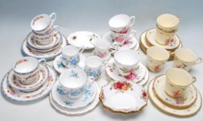 LARGE QUANTITY OF VARIOUS 20TH CENTURY CUPS AND SAUCERS AND TEA SETS