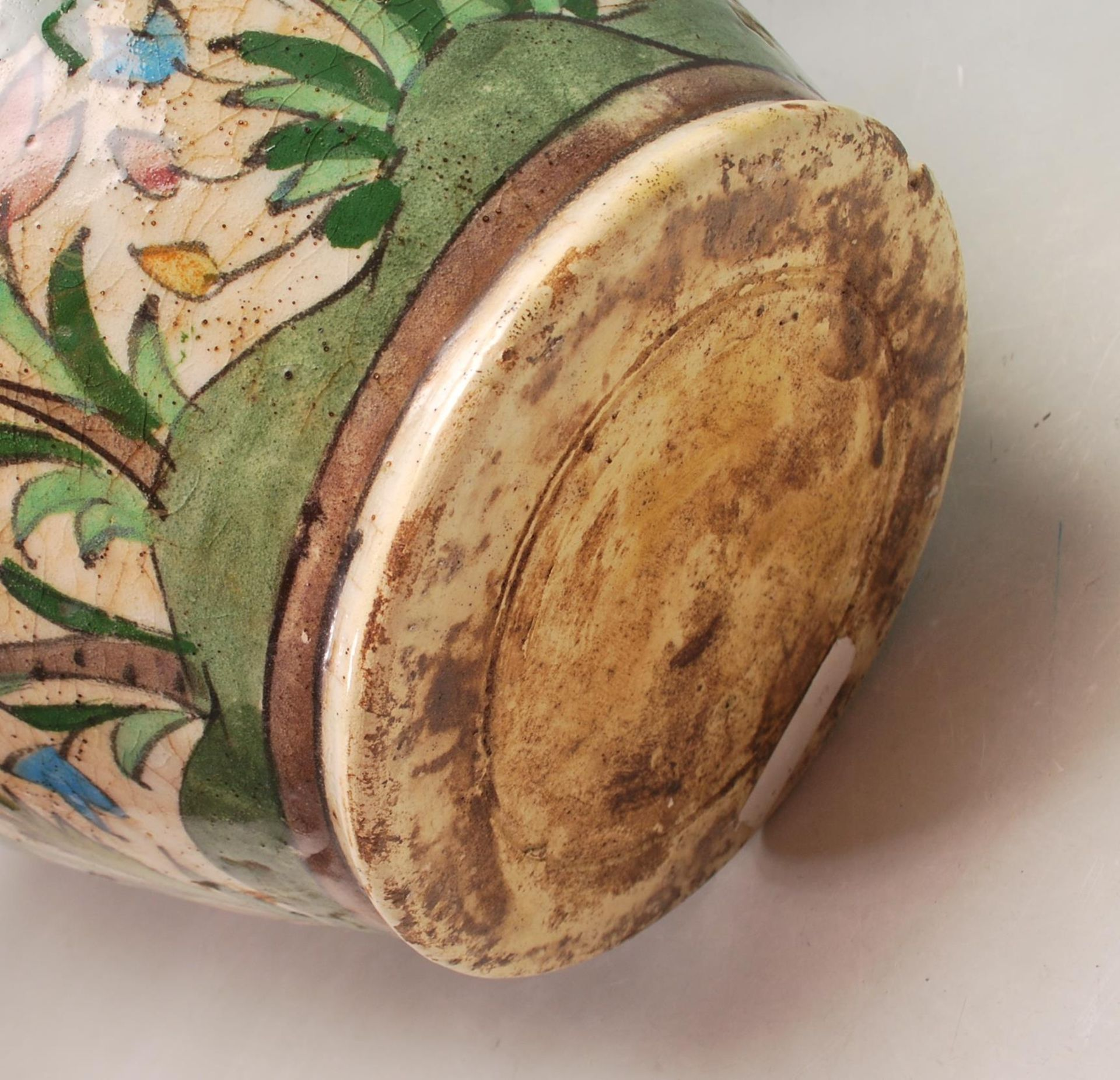LATE 20TH CENTURY PERSIAN ISLAMIC VASE WITH POLYCHROME DECORATION - Image 7 of 7