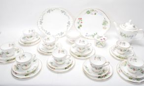 MINTON MEADOW PATTERN BONE CHINA TEA SERVICE