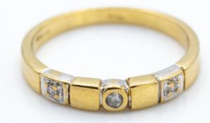 9ct Gold Hallmarked & Diamond Gypsy Ring