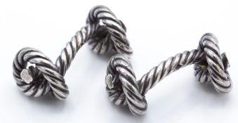 Hermes Silver Hallmarked Gentleman's Cufflinks