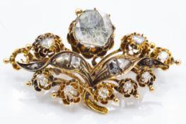 An Antique Diamond Giardinetti Brooch Pin
