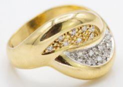 18ct Gold & Diamond Diamond Dress Ring