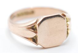 9CT GOLD UNENGRAVED SIGNET RING