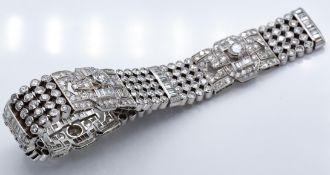 A French 18ct Gold & Platinum Diamond Bracelet