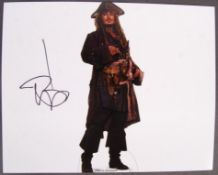 "JOHNNY DEPP - PIRATES OF THE CARIBBEAN SIGNED 8X10"" PHOTO"